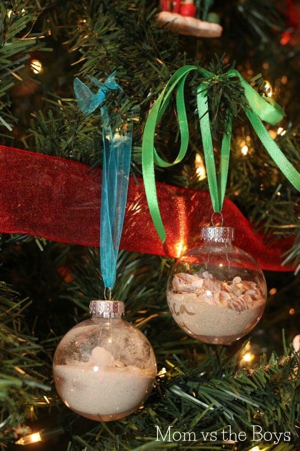 beach christmas ornaments