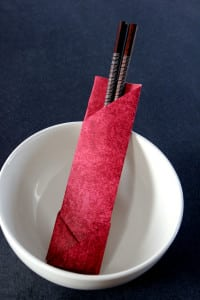 Origami Chopstick Wrappers – 2 ways