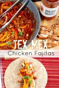 It's BBQ Season! Tex Mex Chicken Fajitas are on the menu!