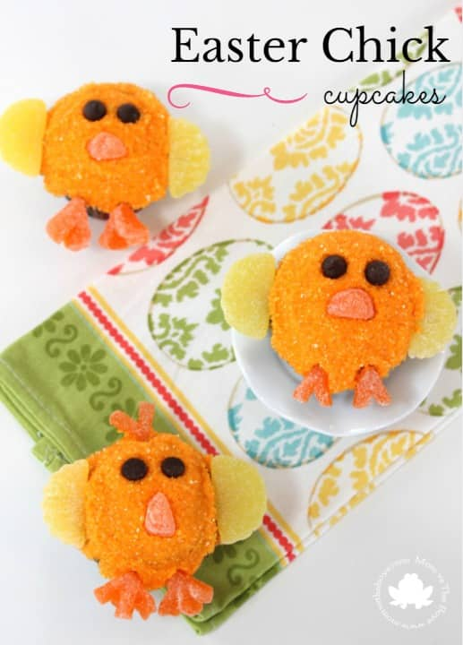 Easter Chick Cupcakes - Mom vs the Boys