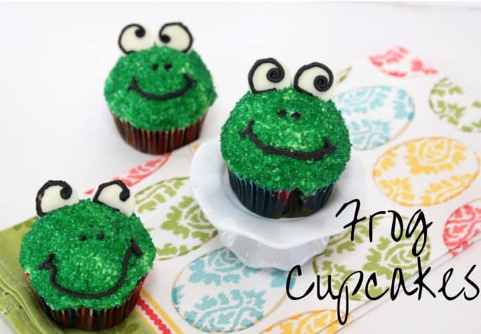 Frog Cupcakes - Mom vs the Boys