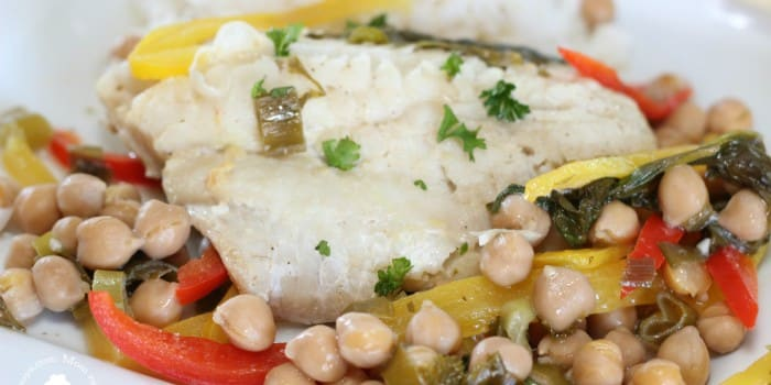 Fish and Chickpea Papillotes