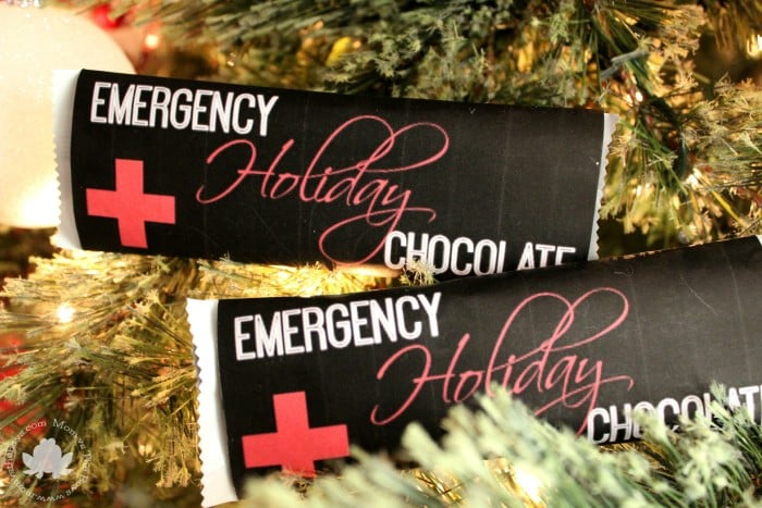 Emergency Holiday Chocolate Bar Wrappers Free Printable