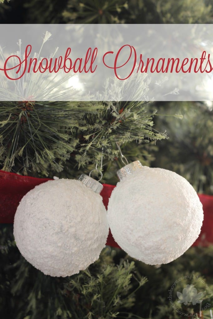 snowball ornaments kids can make - mom vs the boys
