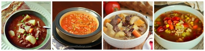 beef soup collage