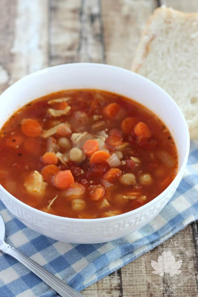 chicken and chickpea soup