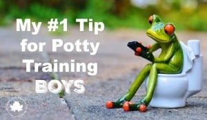 My #1 Tip for Potty Training Boys