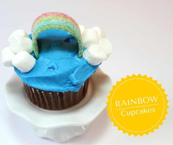 Rainbow Cupcakes - Mom vs the Boys