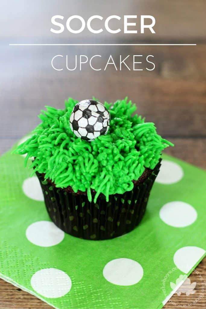 Easy Soccer Cupcakes Mom Vs The Boys