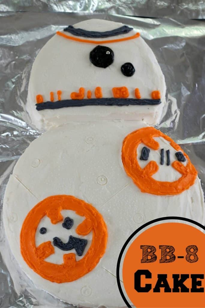 BB-8 Cake - Get the how-to at Mom vs the Boys