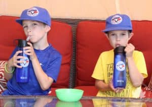 Cheer on the Blue Jays this summer with a Limited Edition Brita bottle!