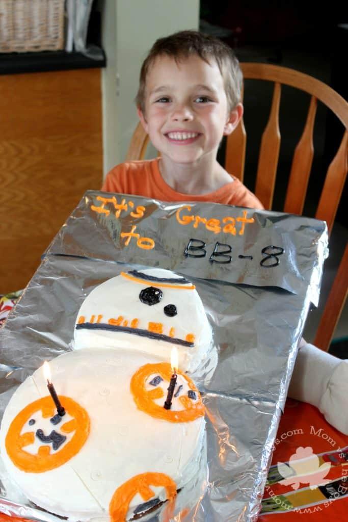 BB-8 Cake - Mom vs the Boys