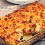 Ham and Cheese Strata - Mom vs the Boys