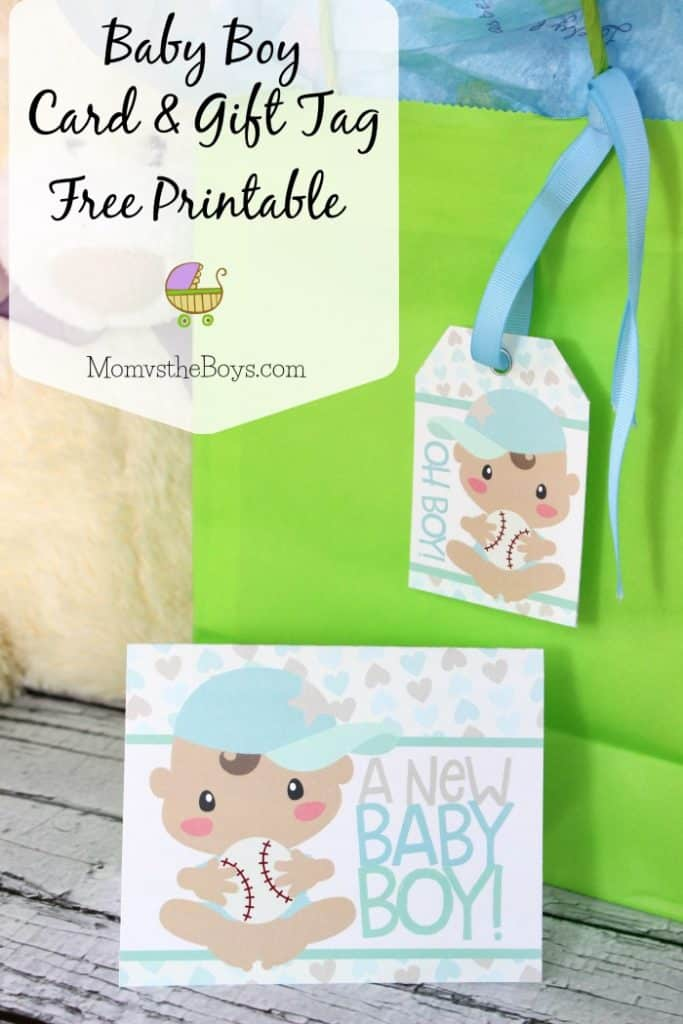 image relating to Baby Shower Card Printable named Kid Shower Reward Tags and Card - Absolutely free Printable! Mother vs the Boys