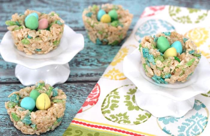 Birds Nest Rice Krispie Treats - Mom vs the Boys