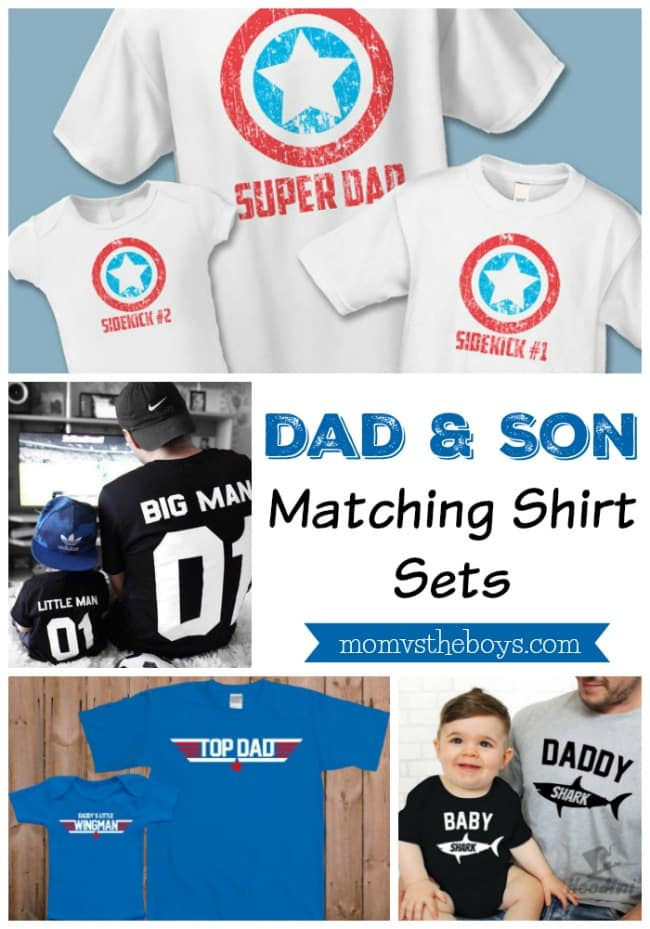 Dad And Son Matching Shirt Sets