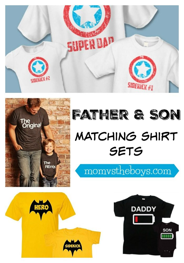 Father and Son Shirts and where to buy them - Mom vs the Boys