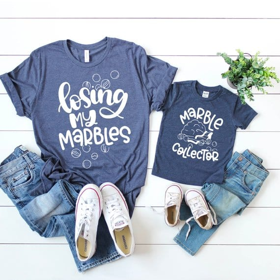 Mother/'s day outfits for mom and son Mom and son shirts Matching shirts Nobody loves trouble Mom and daughter Funny mommy and me shirt