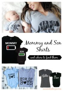 Mommy and Son Shirts for Boymoms who want to match their Little Boys