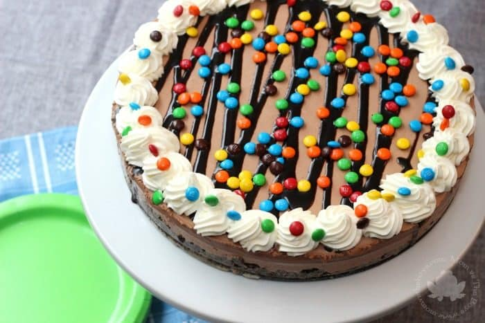 Chocolate MIlkshake Ice Cream Cake - Mom vs the Boys