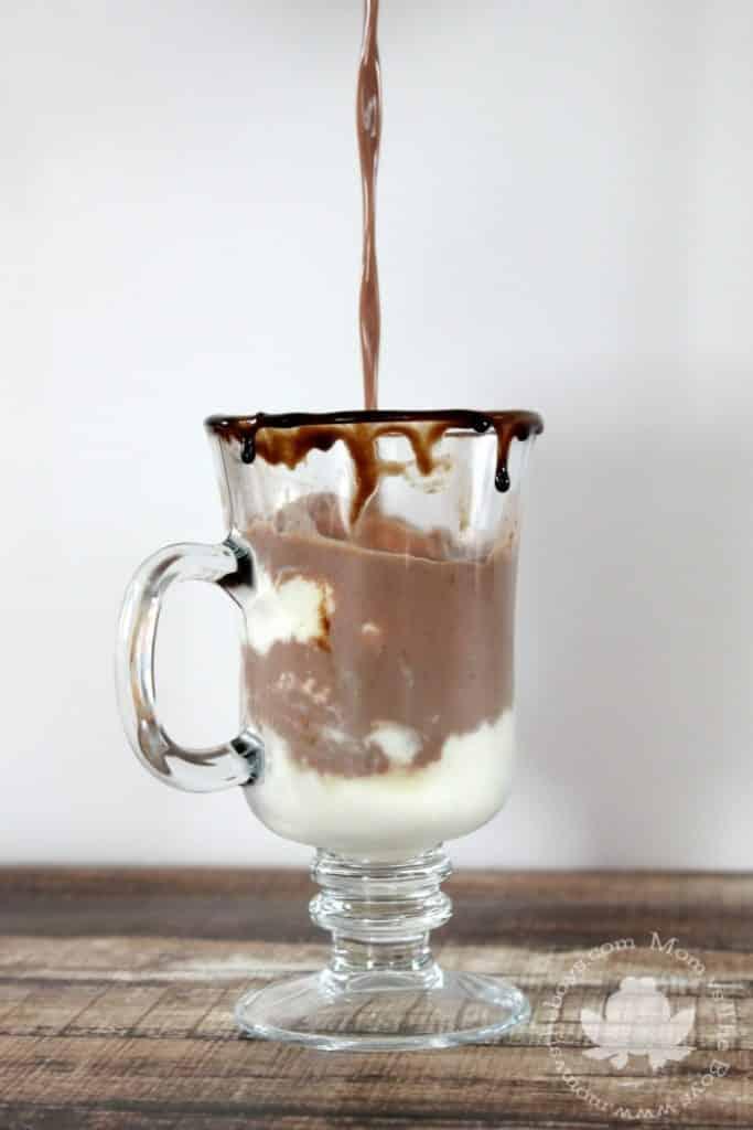 Hot Chocolate Ice Cream Float - Mom vs the Boys