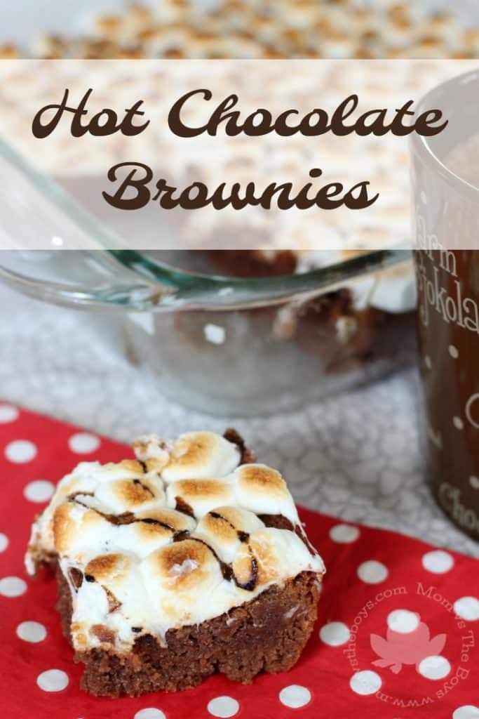 Hot Chocolate Brownies - Mom vs the Boys