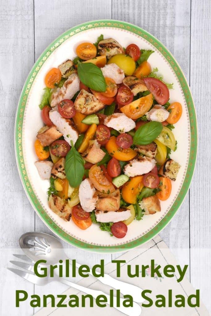 grilled turkey panzanella salad