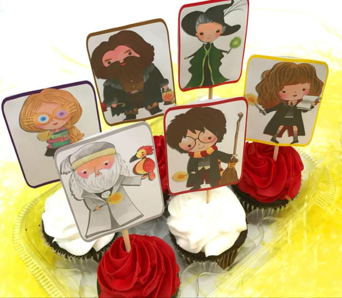 Harry Potter Cupcake Toppers - Free Printable - Mom vs the Boys