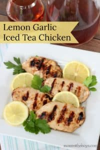 Lemon Garlic Iced Tea Chicken
