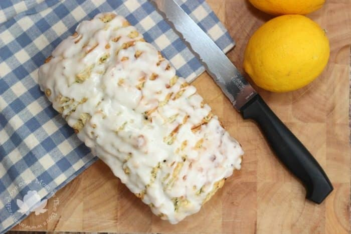 Glazed Lemon Zucchini Bread - Mom vs the Boys