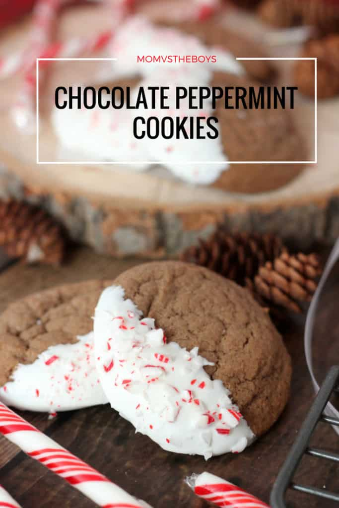 Chocolate Peppermint Cookies - Mom vs the Boys