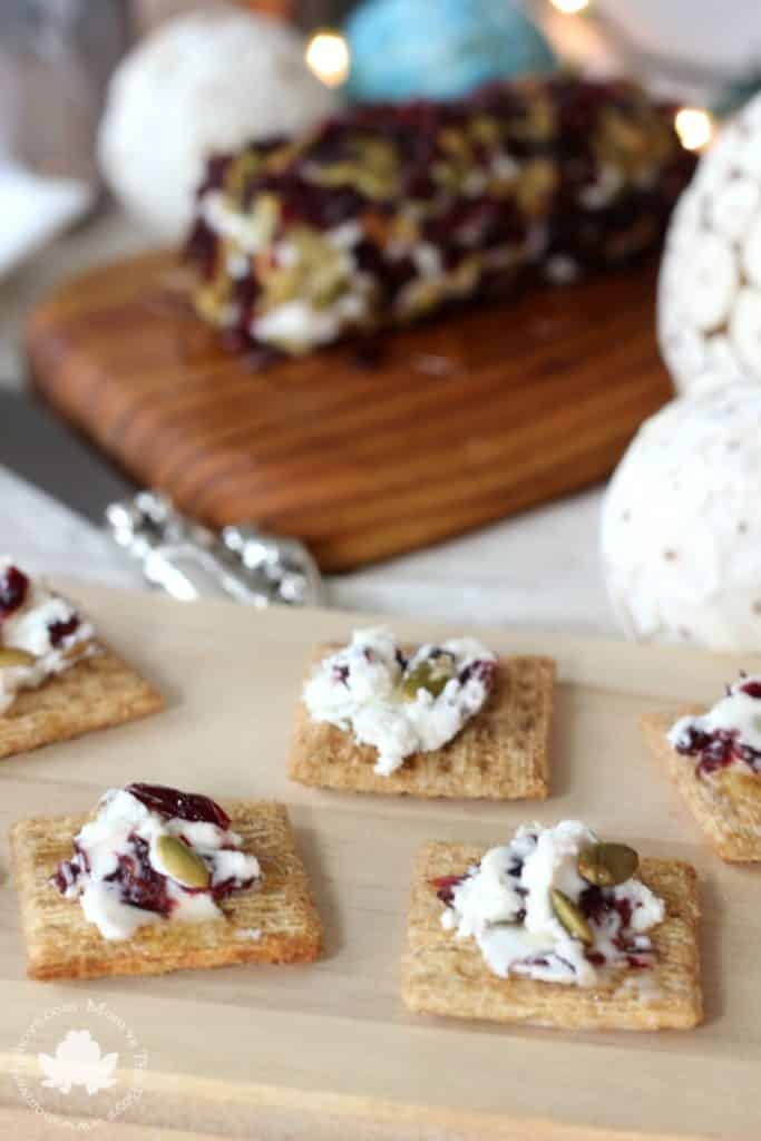 cranberry goat cheese triscuit spread