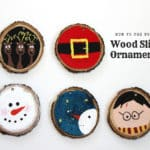 Wood Slice Ornaments - Mom vs the Boys