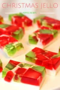 Christmas Broken Glass Jello Squares