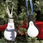 Lightbulb Ornaments - Mom vs the Boys