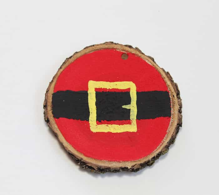 Santa Wood Slice Ornament