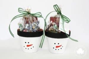 snowman gift pots teacher gifts