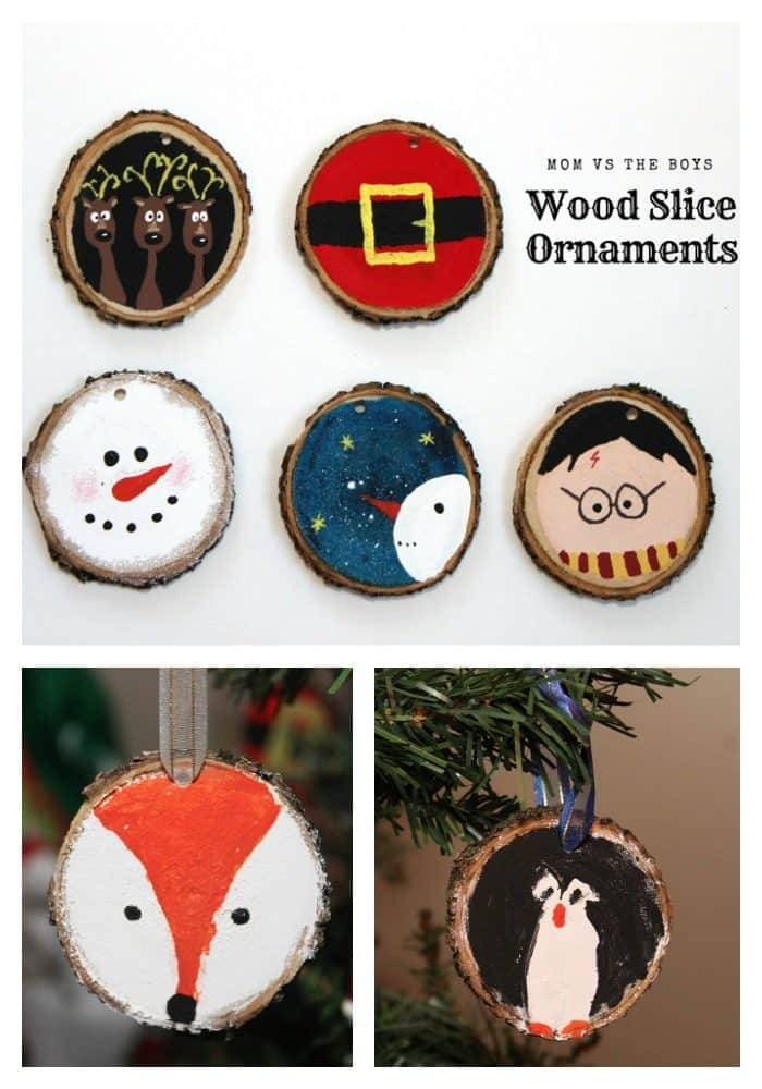 Wood Slice Ornaments For Christmas Mom Vs The Boys