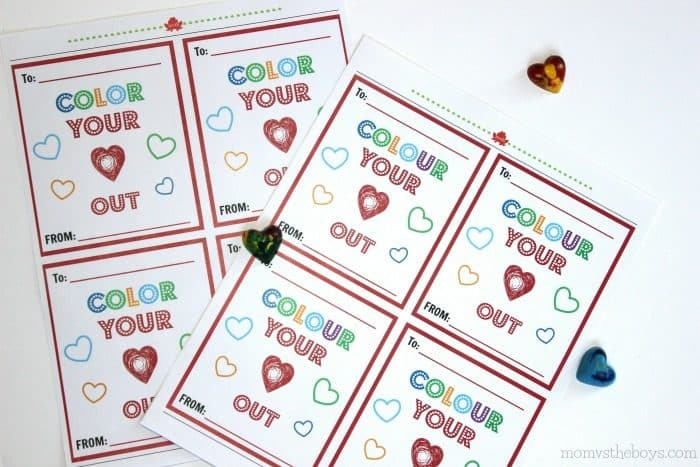 DIY heart shaped crayon valentines - colour your heart out