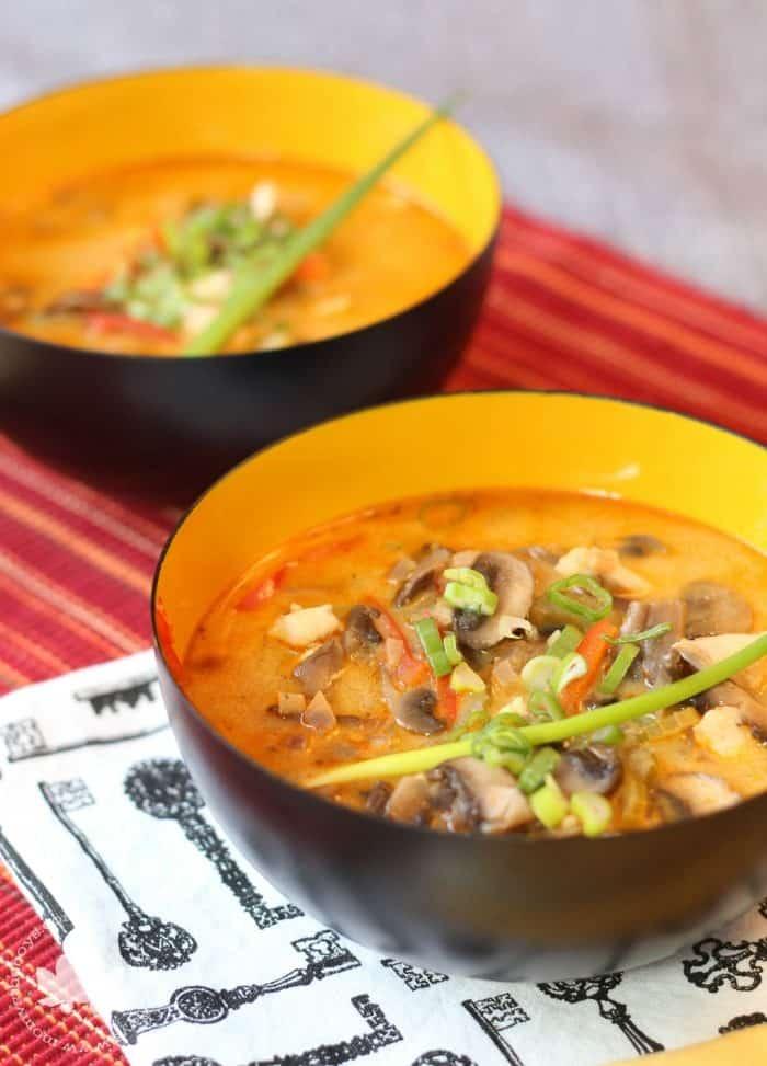 Thai Chicken Soup - Mom vs the Boys