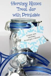 If Kisses Were Snowflakes – Hershey Kisses Treat Jar