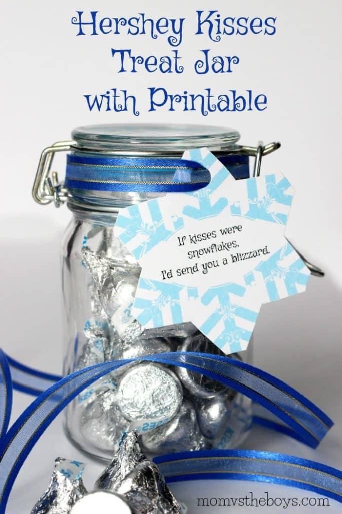 Hershey Kisses Treat Jar With Free Printable Gift Tag