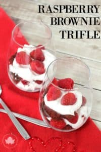 Individual Raspberry Brownie Trifles