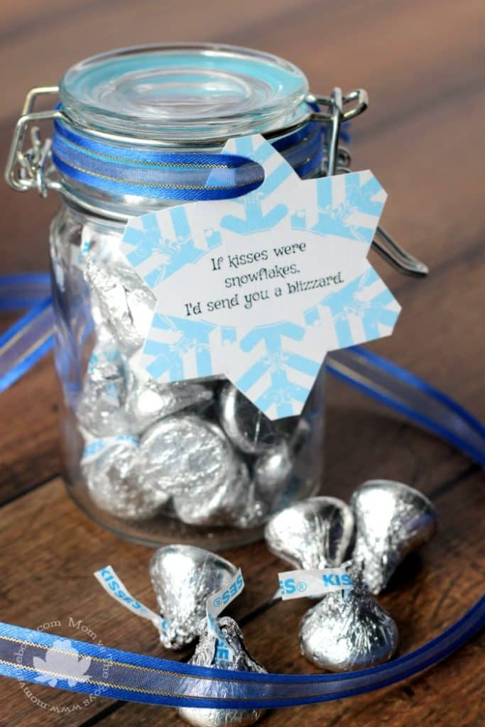 If Kisses Were Snowflakes- Hershey Kisses Treat Jar with Printable