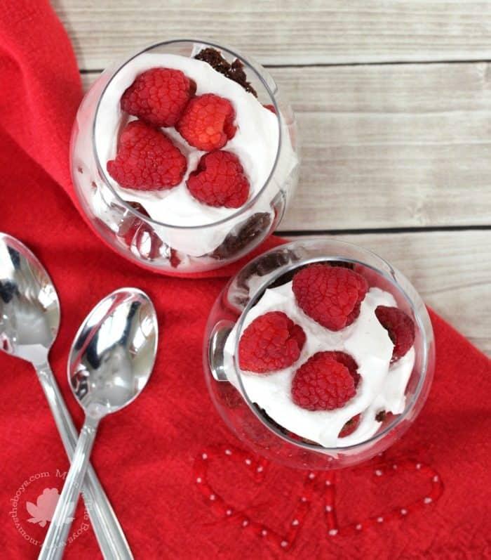 Raspberry Brownie Trifle - Mom vs the Boys