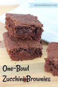 One Bowl Zucchini Brownies