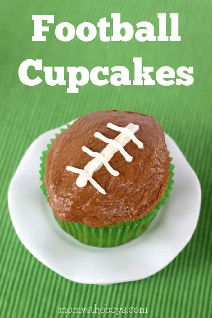 Fun Football Cupcakes for the Kids - Mom vs the Boys