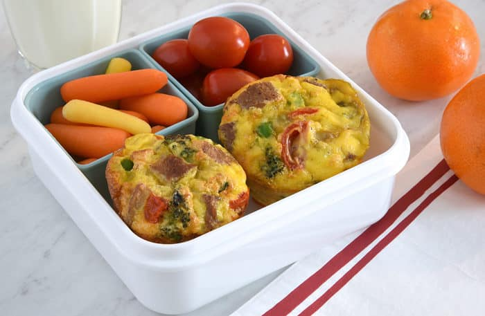 Grab and Go Turkey Muffins a great work lunch or school lunch idea!