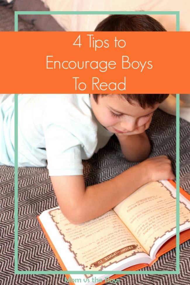 4 tips to encourage boys to read - Mom vs the Boys