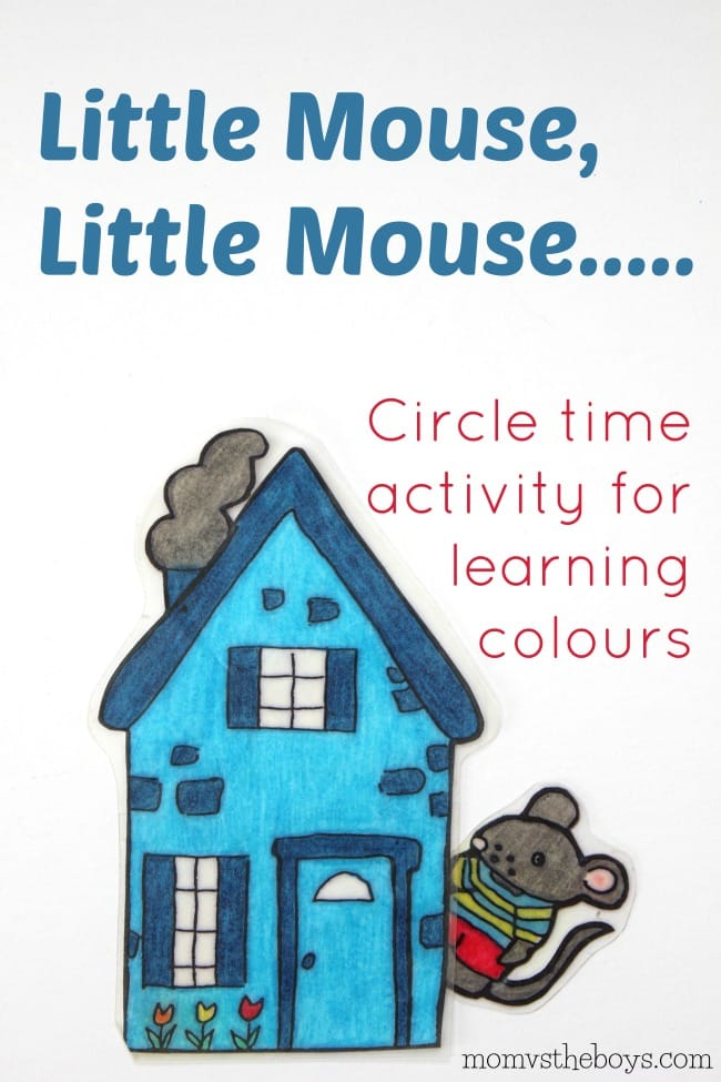 Little Mouse, Little Mouse.... Activity for Learning Colours - Mom vs the Boys